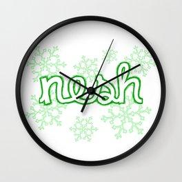 Nesh Yorkshire / Lancashire Slang Dialect  Wall Clock