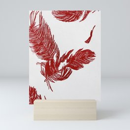 Falling Feather Mini Art Print