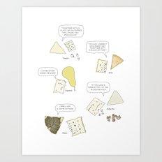 Blue Cheese Talk Art Print