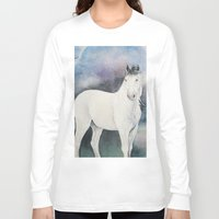 medicine Long Sleeve T-shirts featuring Medicine Hat by LaurelAnneEquineArt
