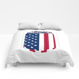 American Beer Can Flag Comforters