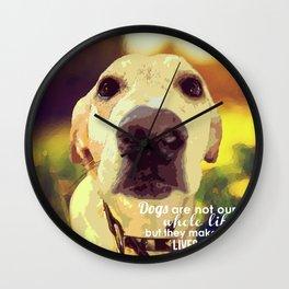 Yellow Lab (Dog) Wall Clock