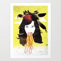 bjork Art Prints featuring Bjork by Teagues Art