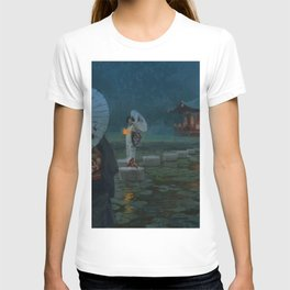 Geisha crossing the Dragon Elder's path T-shirt