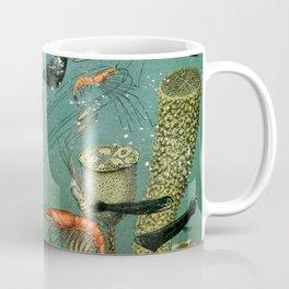 "Adolphe Millot ""Ocean"" Sea Creatures Nouveau Larousse 1905 Coffee Mug"