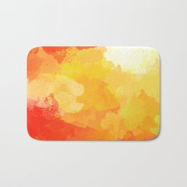 Colorful Abstract - red orange pattern Bath Mat