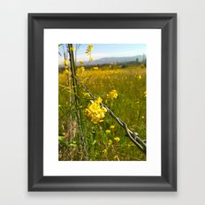 Touching Yellow Framed Art Print