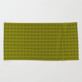Golden Fractals Beach Towel