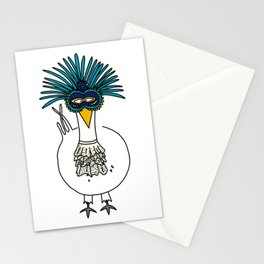 Eglantine la poule (the hen) at the Venice Carnival Stationery Cards