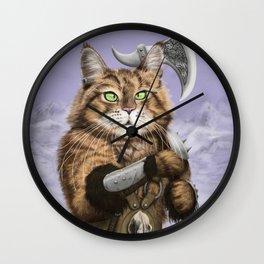 Barbarian Cat Wall Clock