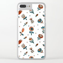 Pattern in Nordic Floral Style #2 Clear iPhone Case