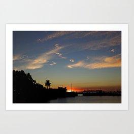 Colonia sunset Art Print
