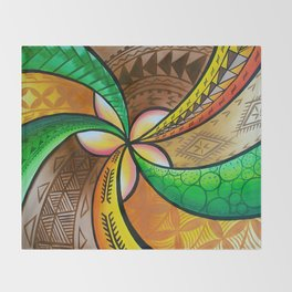 Abstract Pua Throw Blanket