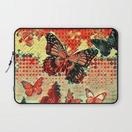 MODERN ART DESIGN of ABSTRACTED BUTTERFLIES Laptop Sleeve
