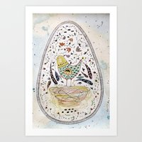 egg Art Prints featuring Egg by Infra_milk