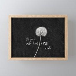 One Wish Framed Mini Art Print
