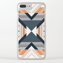 American Native Pattern No. 212 Clear iPhone Case