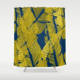 Carved Yellow&Blue Jungle #society6 #decor #buyart Shower Curtain