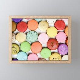 Rainbow Macaroons Framed Mini Art Print