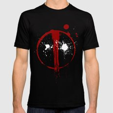 Deadpool. Black LARGE Mens Fitted Tee