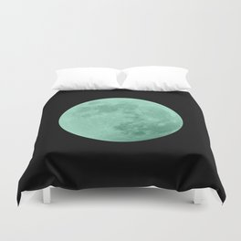 TEAL MOON // BLACK SKY Duvet Cover