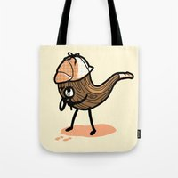 sherlock Tote Bags featuring Sherlock  by Jonah Makes Artstuff