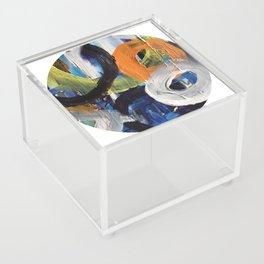I Don't Care To Recall Abstract Acrylic Box
