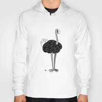 ostrich Hoodies featuring Ostrich? by Annadiplosis