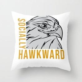 Sarcasm Socially Awkward Gift Throw Pillow