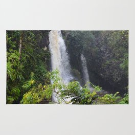 Waterfall on the road to Hana (vertical) Rug