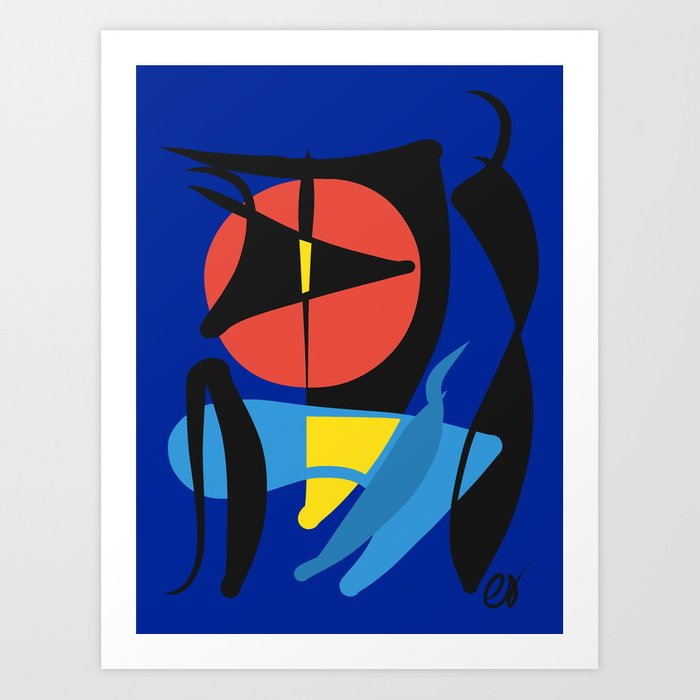 Abstract Shapes Curves Art Surreal Art Print By Emmanuelsignorino