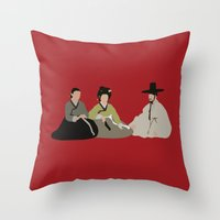 scandal Throw Pillows featuring untold scandal by Live It Up