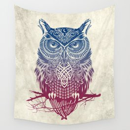 Evening Warrior Owl Wall Tapestry