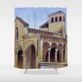 Postcard from Iglesia de la Trinidad, Segovia, Spain Shower Curtain