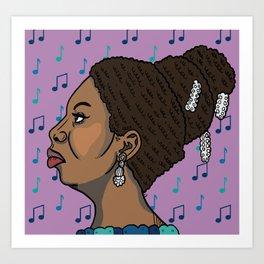 Nina Simone Art Print
