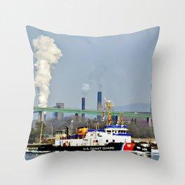 Katmai USCG Cutter Throw Pillow