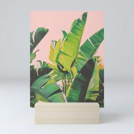 Banana Leaves III (Pink) Mini Art Print