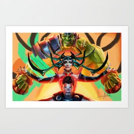 Thor Ragnarok Digital Painting Art Print