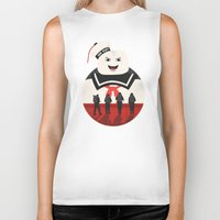 ghostbusters Biker Tanks featuring Ghostbusters by Bill Pyle