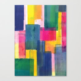 Color Block Series: Rooftops Canvas Print