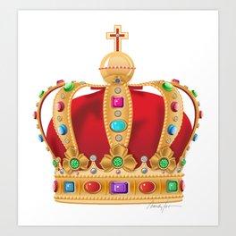 Crowning Art Print