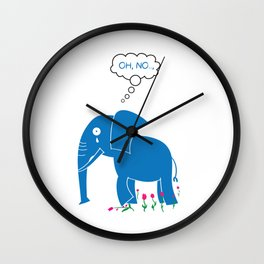 Sad Elephant Wall Clock