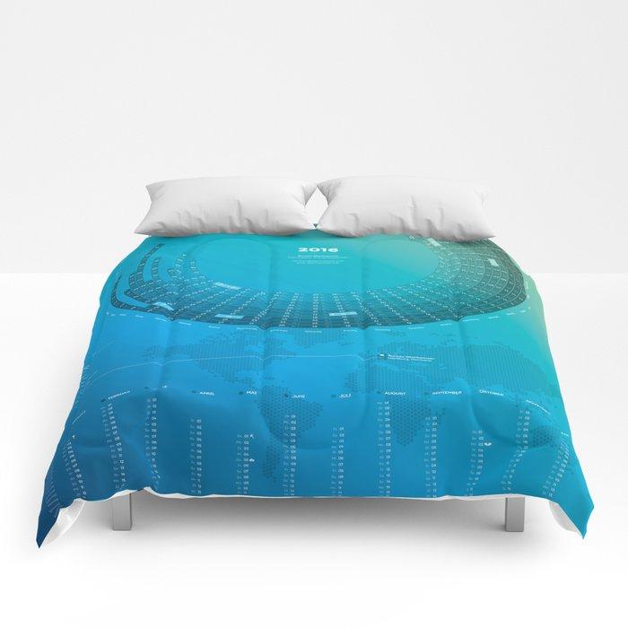 Bureau Oberhaeuser Calendar 2016 blue, german Comforters