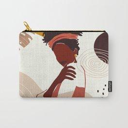 Black Woman Illustration Art, Portrait Print, Black Girl Wall Art, African American Woman Art Carry-All Pouch