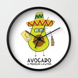Avocado - A mexican lawyer Wall Clock