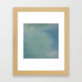 Watercolour Lagoon Framed Art Print