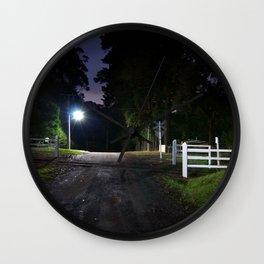 night crossing signs road Wall Clock