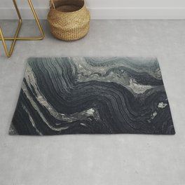 Dark Gray Marble Pattern Rug