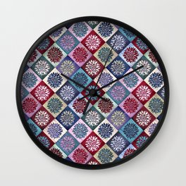 Colored Wood Pattern 3 / Color Variation Wall Clock
