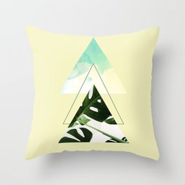 Monstera in Yellow Throw Pillow